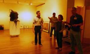 Darren Waterson, curator Inger Tully and installation designer Larry Maruya