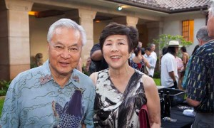 Academy Trustee Stephanie Hee and her husband Sherman Hee.