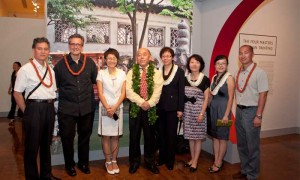 The Palace Museum team (l to r): Fu Hongzhan, Director, Dept of Paintings & Calligraphy; Shawn Eichman; Wang Lei, Interpreter/Foreign Affairs Dept; Deputy Director Li Wenru; Cao Fang, Dept of Finance; Hua Ning, Curator, Dept of Paintings & Calligraphy; Yang Fan, Interpreter/Foreign Affairs Dept; Fu Dongguang, Curator, Dept of Paintings & Calligraphy