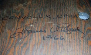 Wilfred signed 'Convolux Opus 160' on the bottom.