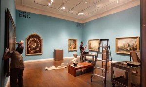 The new gallery of 18th-century European art—almost done.