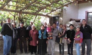 The group visiting the traditional home of a Uyghur family near Kuche, Xinjiang Province.