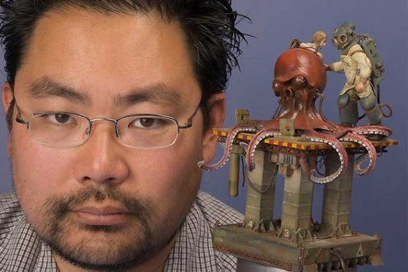 Dai and his Kraken: this is one of the first attempts to make a portrait for 'The Scale Modelers.'