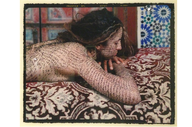 Lalla Essaydi. 'Silence of Desire #1,' 2002. C-print. The Cherye R. and James F. Pierce Collection of Photography.