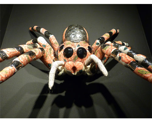 'Simran the Sacred Jumping Spider.' On view October 2014 in the Art School's Nanogallery.