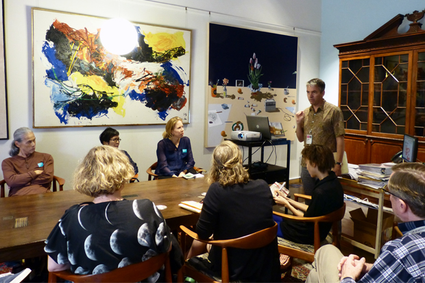 Director Stephan Jost talks about opportunities and expectations with 'Artist of Hawai'i 2015' artists.