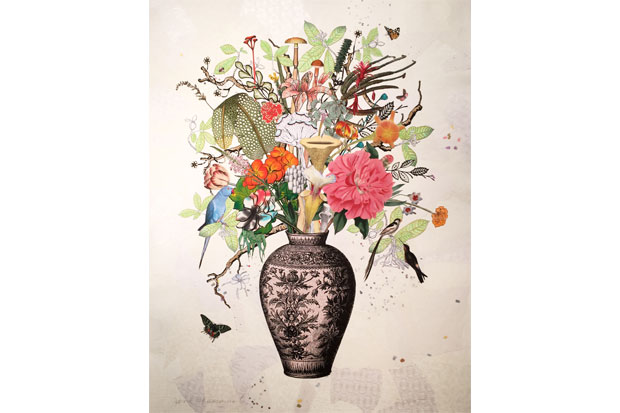 'Korean Vase with Pitcher Plant, Hala and Tiger Lily' | Jane Hammond, 2015