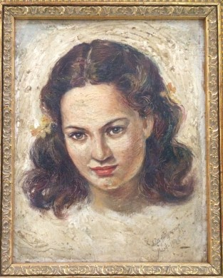 One of the objects discussed: 'Portrait of Ms. Carmen Reyes-Bayot (Callahan),' by Anita Magsaysay-Ho