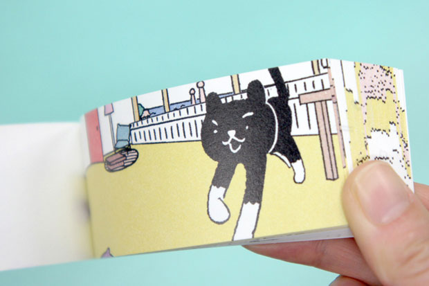 """""""A Cat's Welcome"""" flip book from Seigensha Art Publishing"""