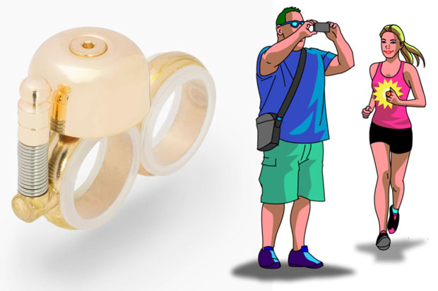 Avoid running smack into a camera-phone-happy tourist or any other oblivious obstacle with ears by pinging a Runbell!