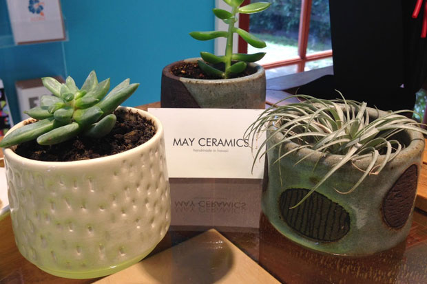 May Ceramics planters are available at the Spalding House Shop