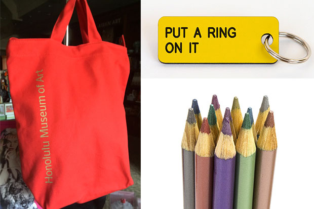 The Museum Shop has great stocking stuffers such as the Baggu duck bag, fun keychains, and art supplies like Faber Castell's metallic colored pencils