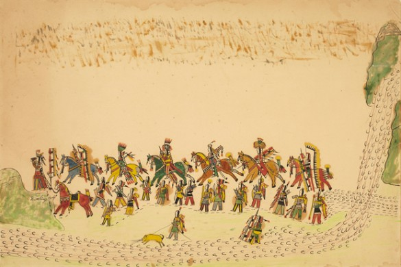 Howling Wolf's 'A Procession of Southern Cheyenne Warriors'