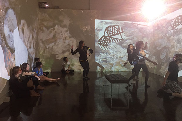 Kao's dance students finding rhythms in Lindley's 'Intertidal Grandeur.'