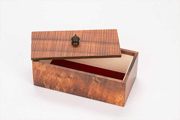 Koa wood box by Alan Wilkinson