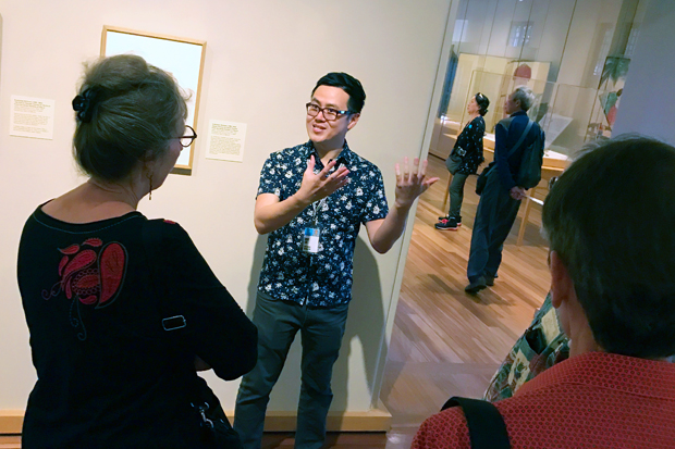 Gary Liu integrates museum gallery visits into his classes