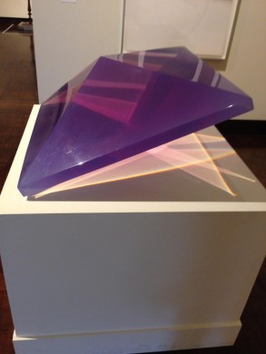 DeWain Valentine, Double Pyramid, 1968. Cast polyester resin. Gift of The Contemporary Museum, Honolulu, 2011, and gift of the Lannan Foundation (TCM.1997.44.2)