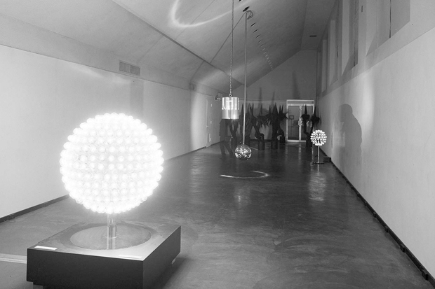A view of the 1970 Otto Piene exhibition at the Honolulu Academy of Arts.