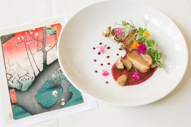 Art and food—Lee Anne Wong's glazed pork belly dish for Palette.