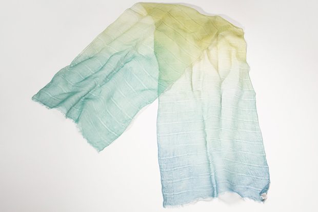 Kinuko Takagiʻs kusakizome scarves will make mom feel pampered and beautiful.