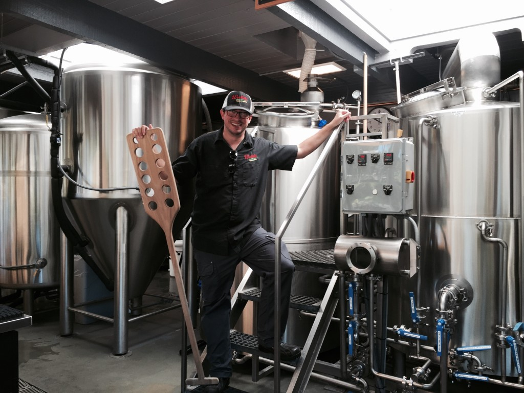 Lorenzen behind-the-scenes of Waikiki Brewing Company.