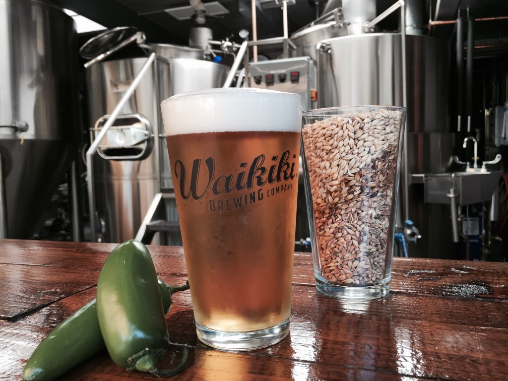 A refreshing pint from Waikiki Brewing Company.