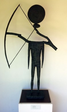 The Archer (1991), a maquette of the larger version, on view at Spalding House.