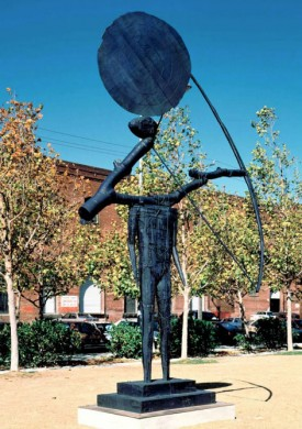John Buck's 15-foot bronze sculpture, The Archer, will be installed on the museum lawn in the coming weeks.
