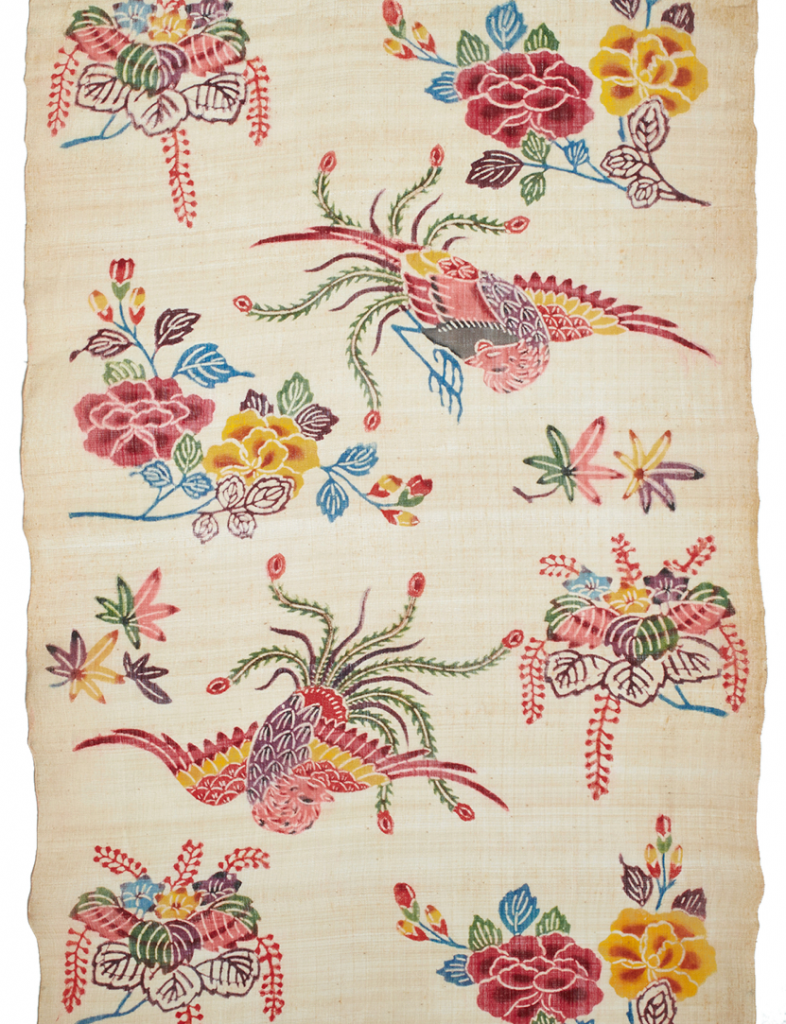 Fabric for kimono Okinawa, 1868-1912, Basho (banana), bingata (stencil-printed paste resist), Gift of Mr. Charles I. Otsuka, 1965 (3363.1)