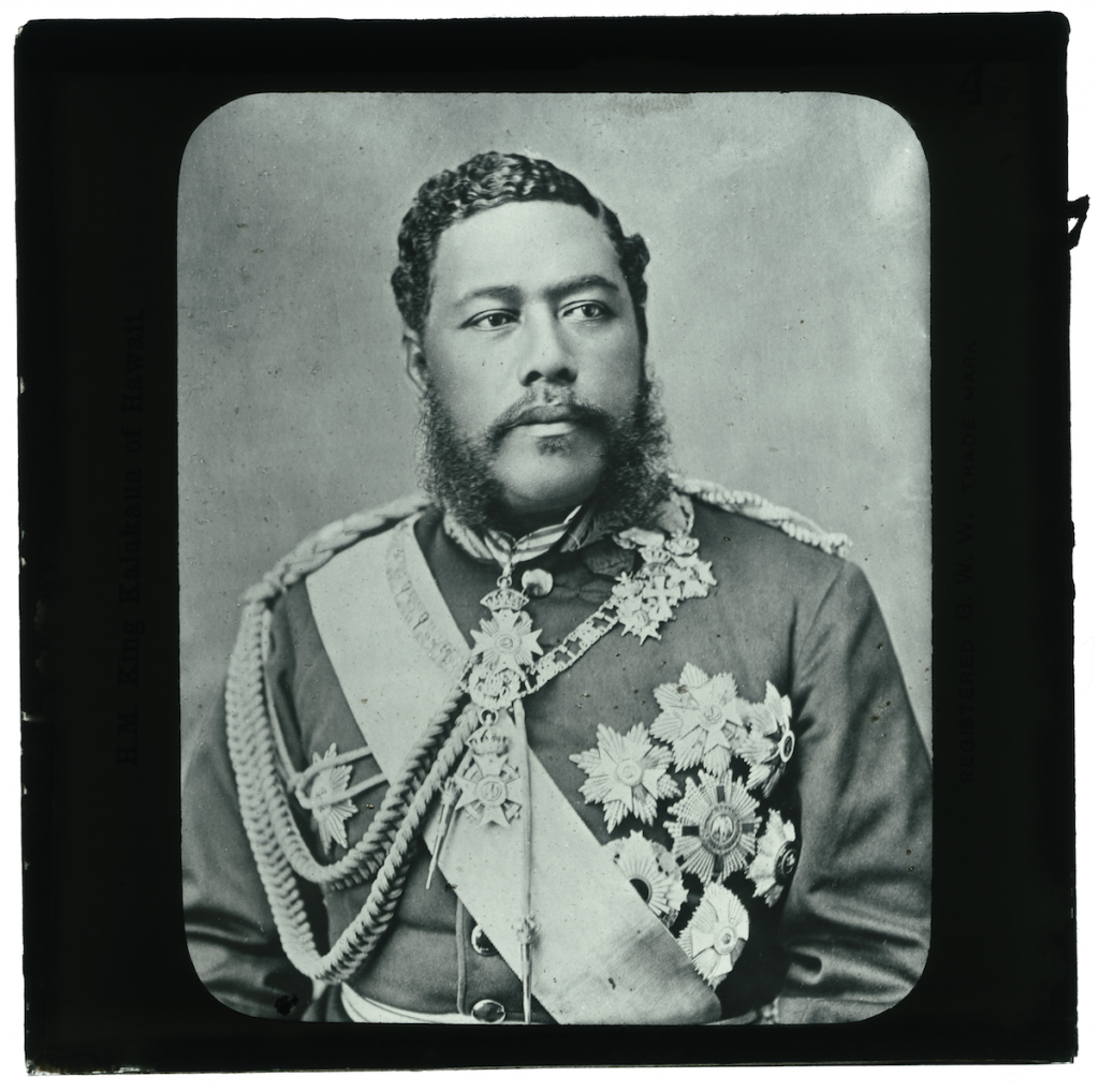 Original photograph attributed to J.J. Williams King Kalakaua of Hawaii, ca. 1880 Lantern Slide Honolulu Museum of Art