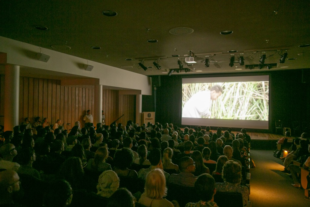 "Screening of the short film ""Blackbird"" directed by Amie Batalibasi (Photo: Shuzo Uemoto)"