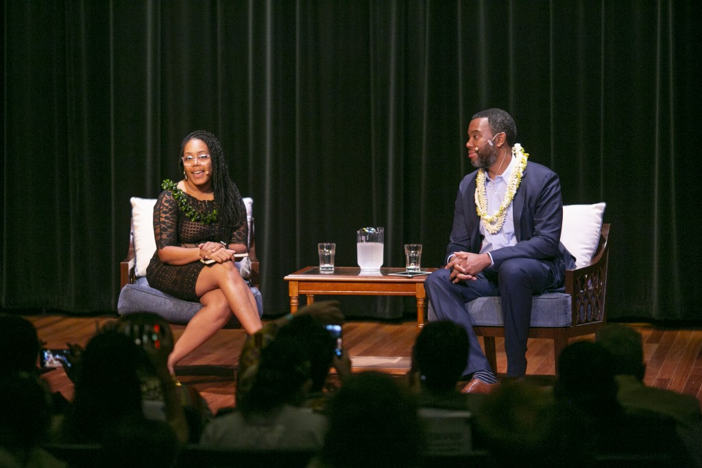 Dr. Akiemi Glenn and Ta-Nehisi Coates (Photo: Shuzo Uemoto)