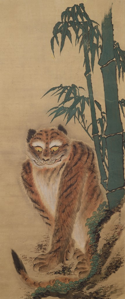 Nakasone Shōzan (b. 1843) Tiger Okinawa, 19th century Hanging scroll; ink and color on paper Purchase, 2018 (2018-18-01)