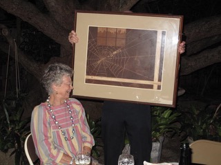 Image of Warren and one of her mezzotints, courtesy of Ann Beeson