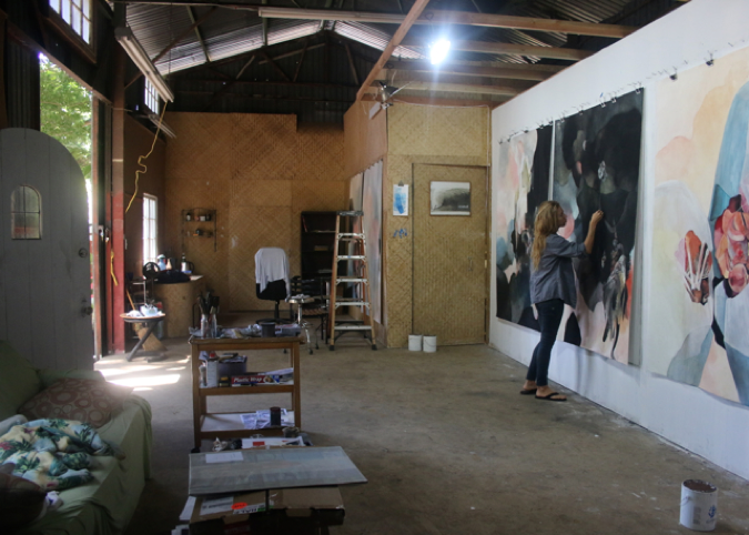 McCoy at work in her studio