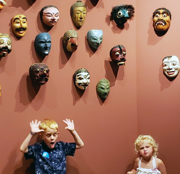 Ray and Ruby McNab explore Indonesian culture in the gallery of Southeast Asian Art.