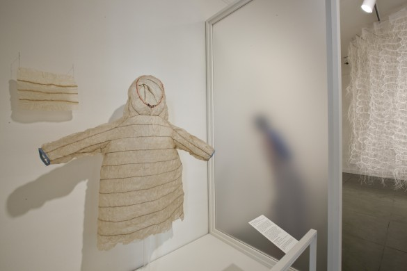 The museum's Aleutian seal-gut parka, on view in 2013 as part of the exhibition Sheer Delight